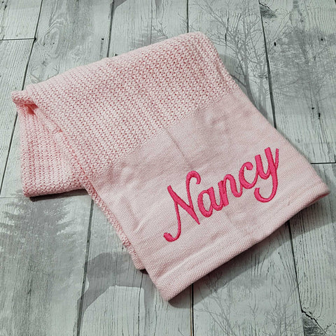 personalised cellular blanket pink