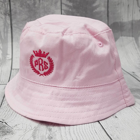 personalised girls sun hat pink