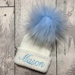 personalised hat for a newborn baby