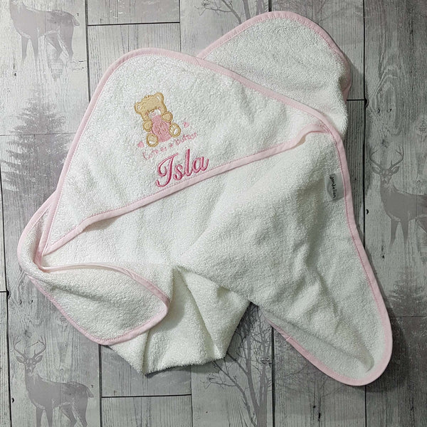 personalised baby hooded towel