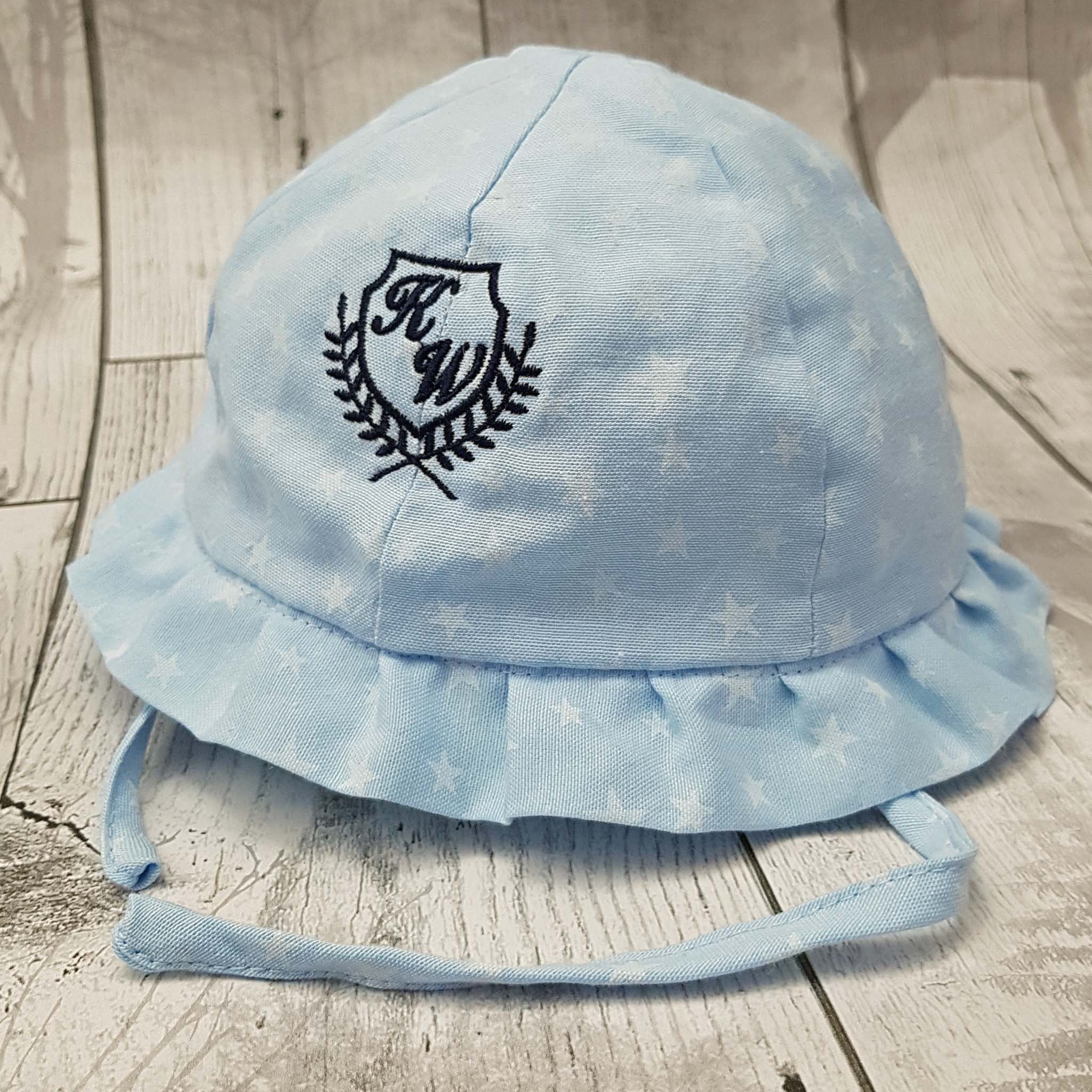 Personalised Baby Sun Hat - Blue