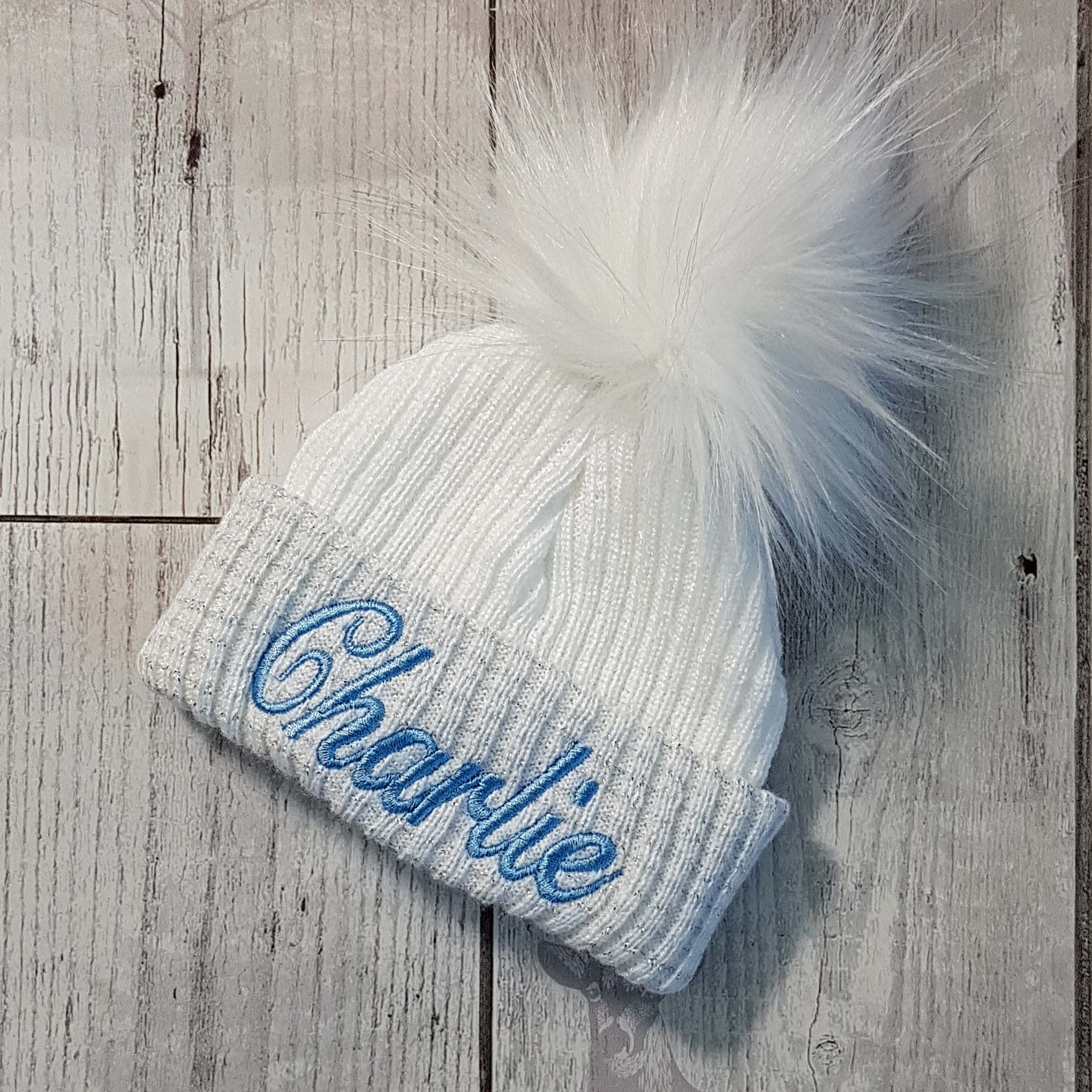 personalised first size baby hat