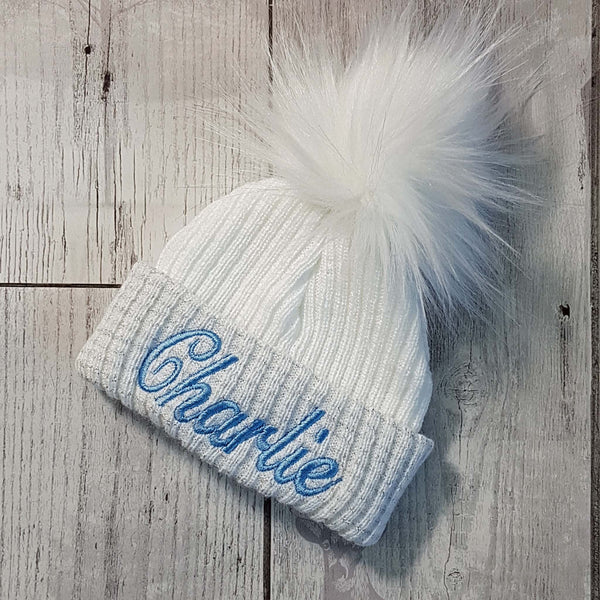 personalised unisex baby bobble hat