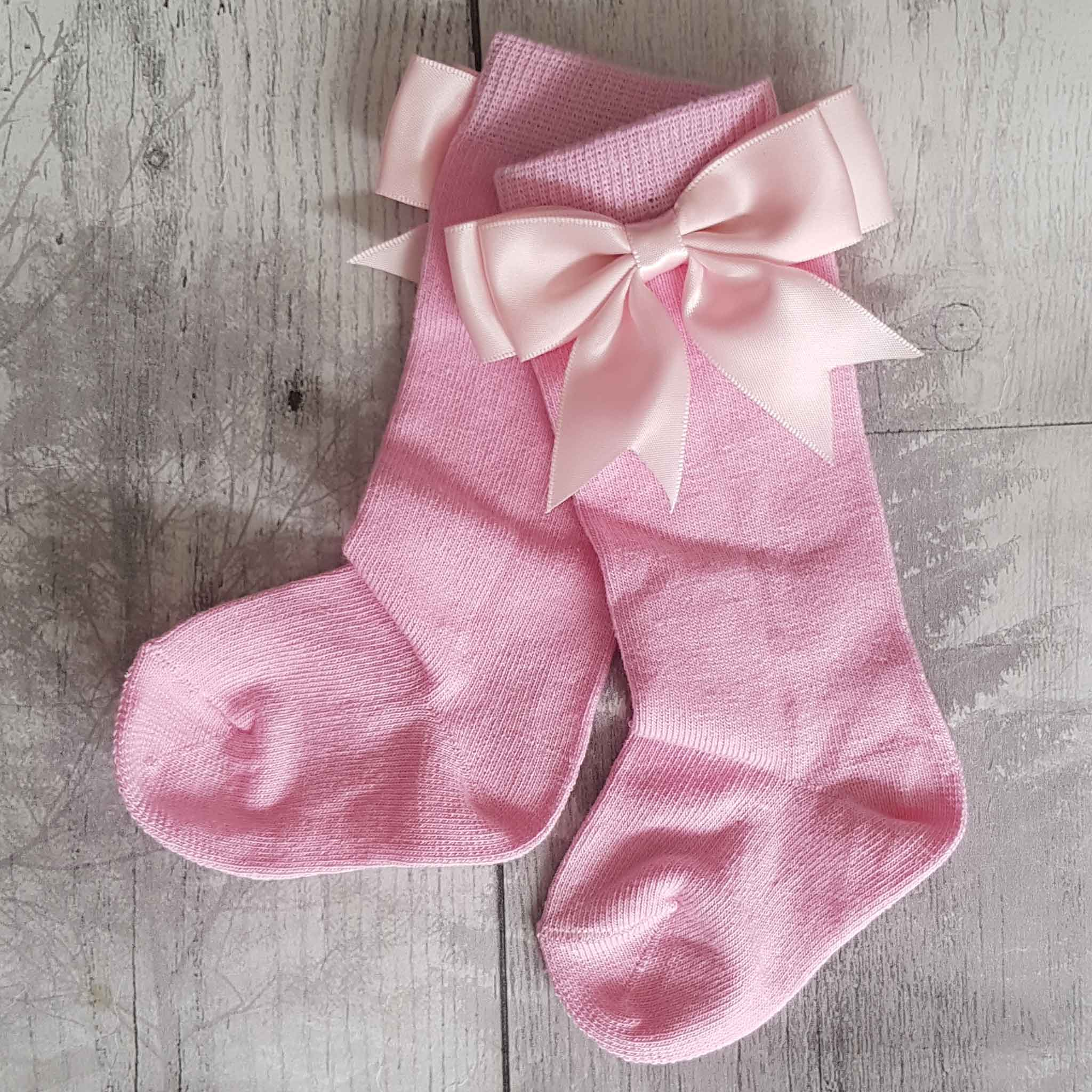 baby girl pink socks