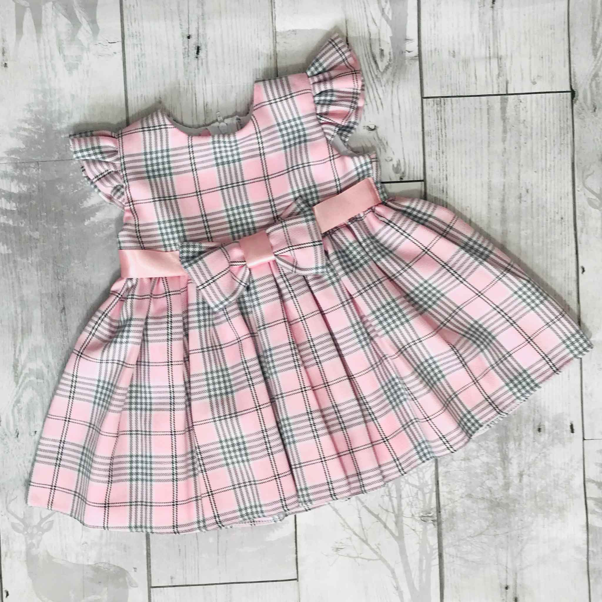 Baby Girls Pink Tartan Dress
