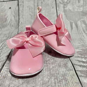 Pink Soft Sole Pram Shoes