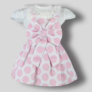 Baby Girls Two Piece Set-Pinafore Dress and Blouse