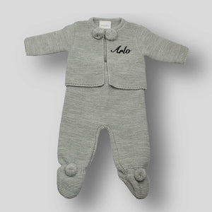 personalised baby clothes pom outfit