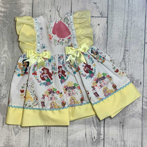 Baby Summer Dress- Princesses with Yellow Bows