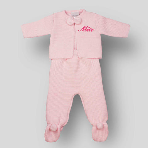 personalised pink baby outfit