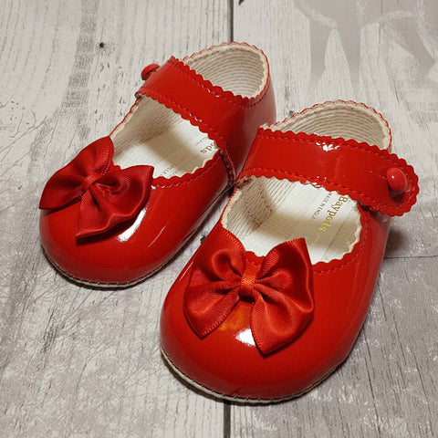 Baby Girl Red Pram Shoes
