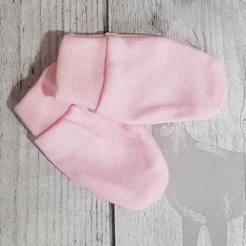 scratch mitts pink