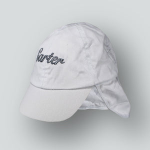Personalised Sun Hat - White Legionnaire with Neck Flap