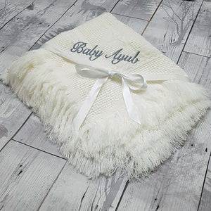 personalised baby shawl christening