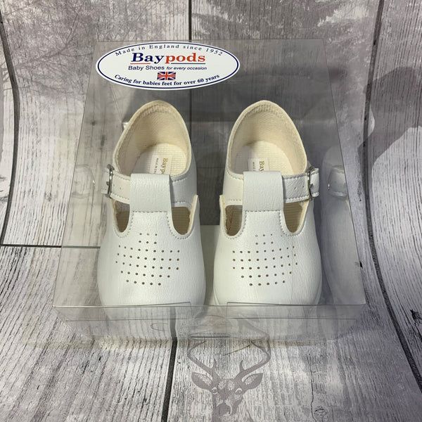 First Walker Shoes - Hard Sole White T Bar