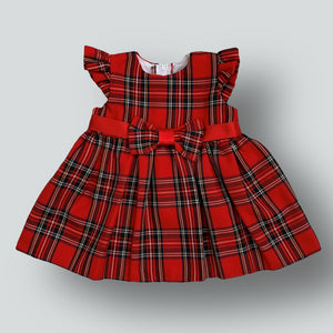 Baby Girls Red Tartan Dress