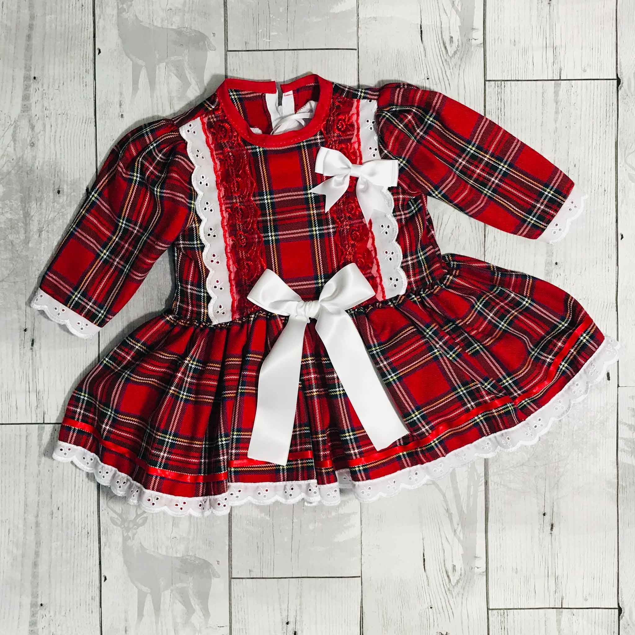Red Tartan Frilly Dress