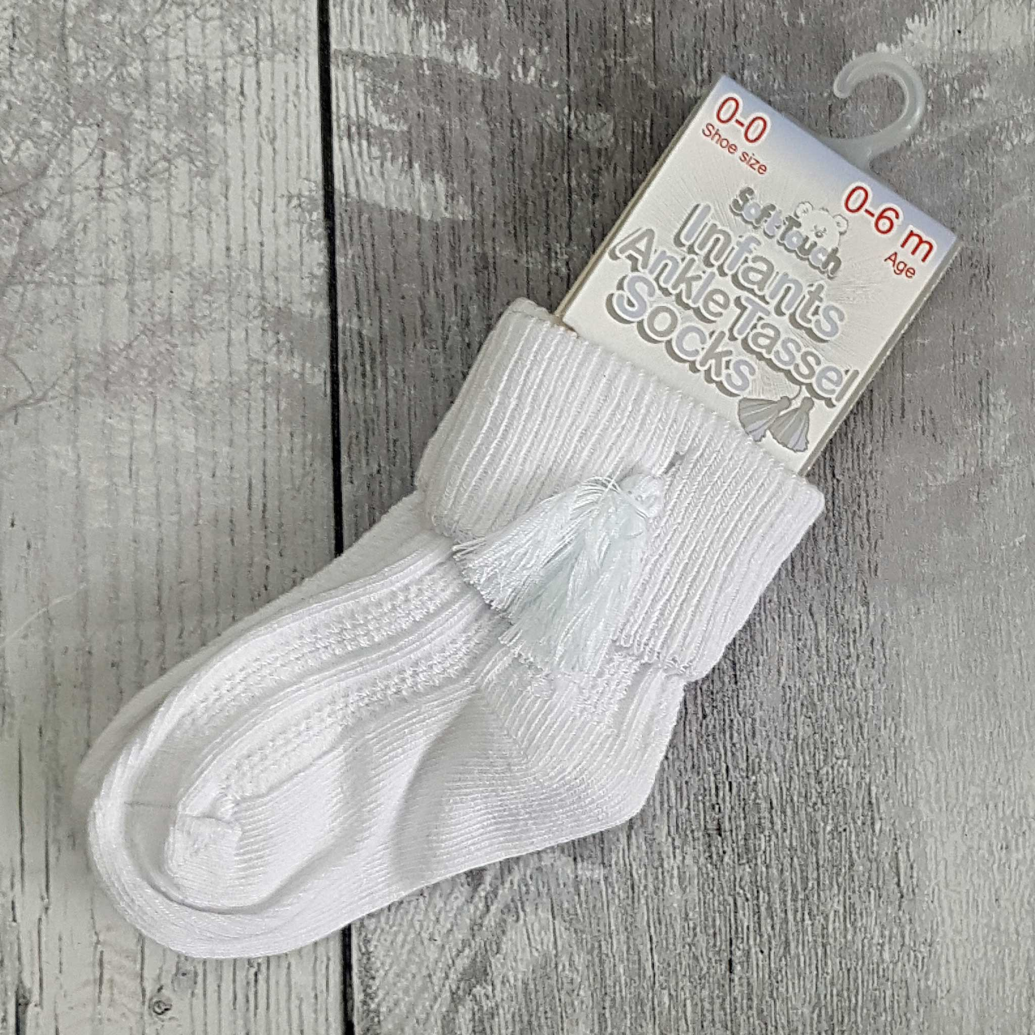 baby ankle socks with tassels