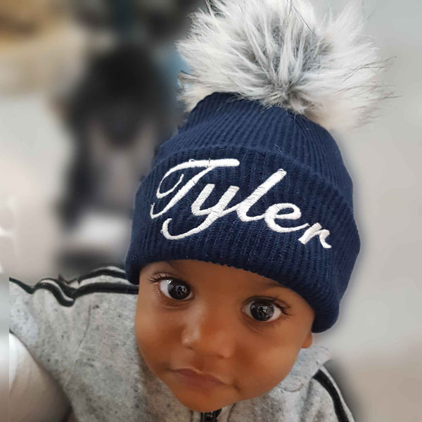 custom blue baby hat