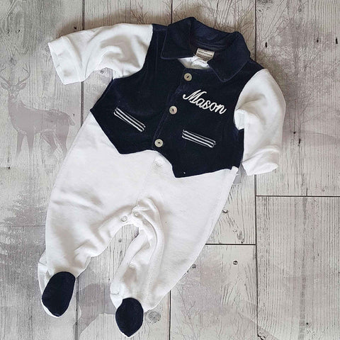 Personalised Velour Baby Outfit