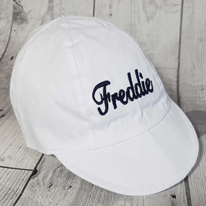 Personalised Baseball Cap Sunhat - White