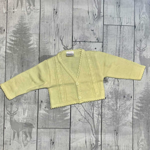 Lemon Yellow Knitted Cardigan