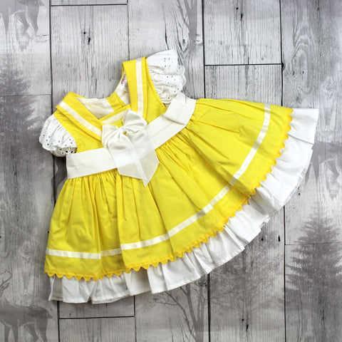Yellow Dress with White Bows