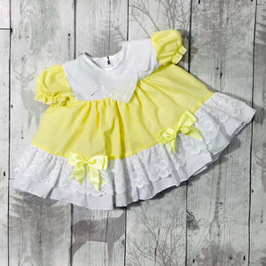 yellow baby dress puffball