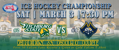 THE MASCAC CHAMPIONSHIP IS ON THE LINE AS FITCHBURG STATE HOCKEY FACES OFF SATURDAY MARCH 3rd AGAINST UMASS DARTMOUTH (BONUS HAIR FLOW)