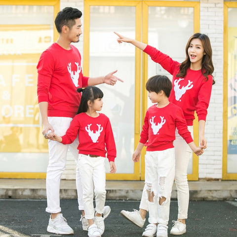 Family Look Sweaters Family Matching Long Sleeve