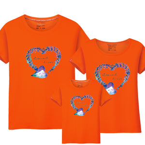 T Shirt Family Look Matching Outfits Love Print