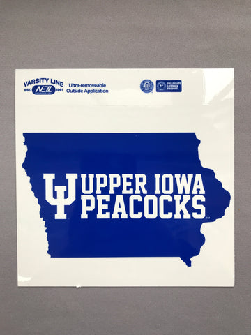 "6"" x 6"" UIU Iowa Adhesive Sticker"