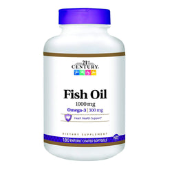 21st Century Fish Oil 1000 MG, 180 CT