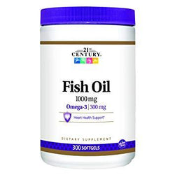 21st Century Fish Oil 1000 MG, 300 CT