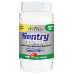 21st Century Sentry Senior compare to Centrum Silver, 125 Tablets