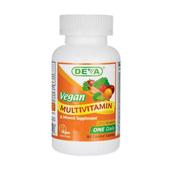 Deva Vitamins Vegan Natural Multivitamins & Mineral Supplement, 90 Tablets