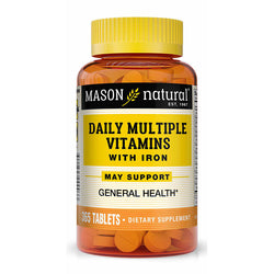 Mason Natural Daily Multiple Vitamin WITH IRON, 365 Tablets