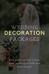 Wedding Decoration Packages: How to Buy Your Wedding in Bulk