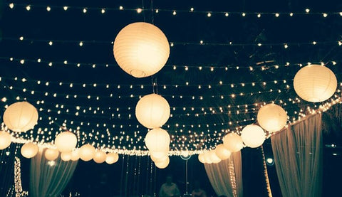 Cheap DIY Wedding Ideas - Paper Lantern Lighting