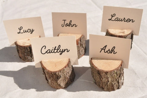 Cheap DIY Wedding Ideas - Wooden Table Holders