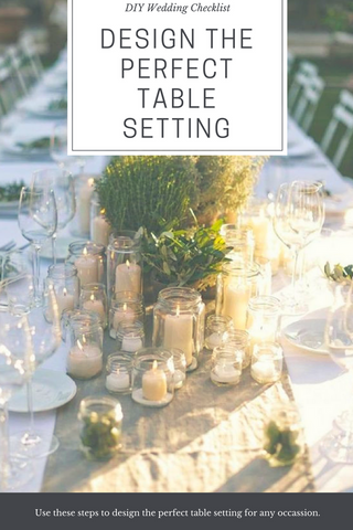 DIY Wedding Checklist Steps to Design the Perfect Wedding Table Setting & Steps to Design the Perfect Wedding Table Setting u2013 Event Supply Shop