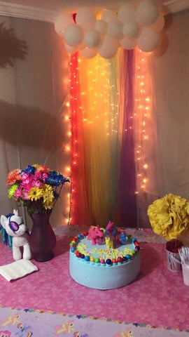 Cake Table with Fairy Lights - Fairy Light Decoration Ideas