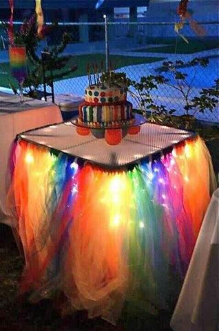 Fairy Lights Cake Table