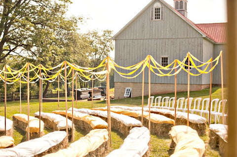 barn wedding chic