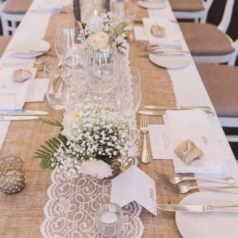 Rustic Burlap Table Runner