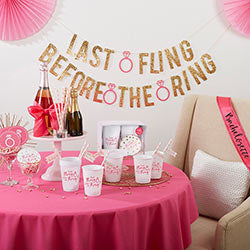 Last Fling Before the Ring 66-Piece Bachelorette Party Kit