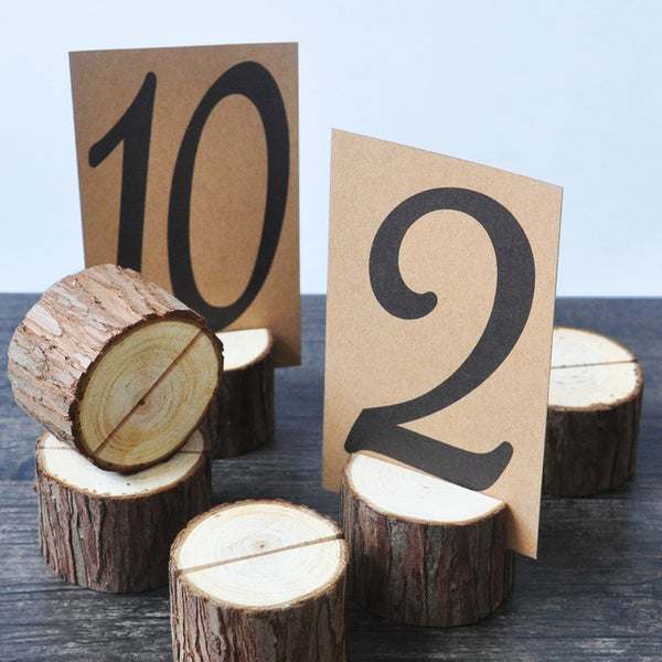 Wooden Card Holders Table Number Stands (5) - Event Supply Shop