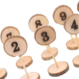 10PCS Party Table Number Cards 1-10 Set Rustic