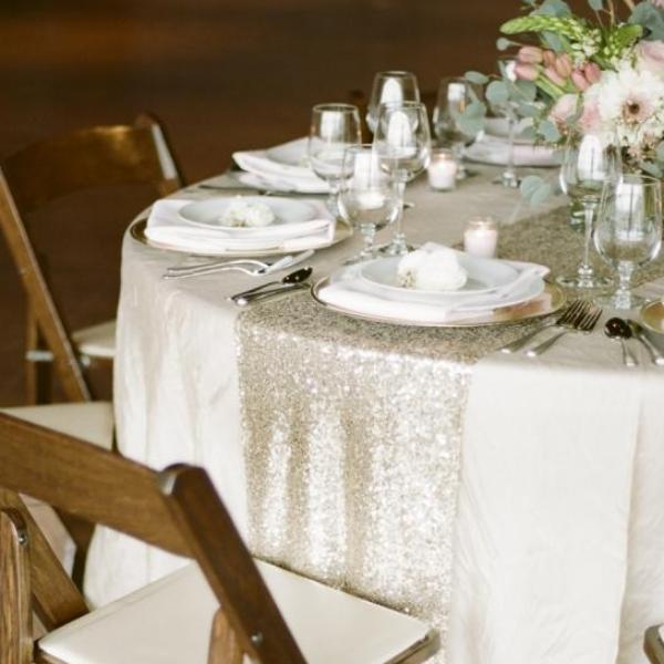 Exquisite Sequin Fabric Runner - Event Supply Shop