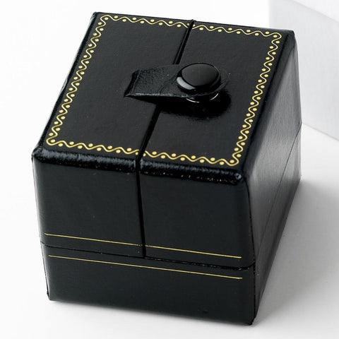Black Leatherette Deluxe Ring Jewelry Box 3